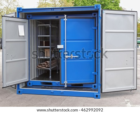 Open Door at New Cargo Shipping Container