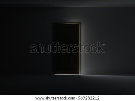 Open Door Dark Room open door dark room light outside stock illustration 87834799
