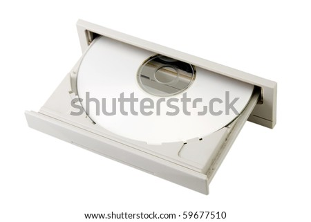 open dvd player - stock photo