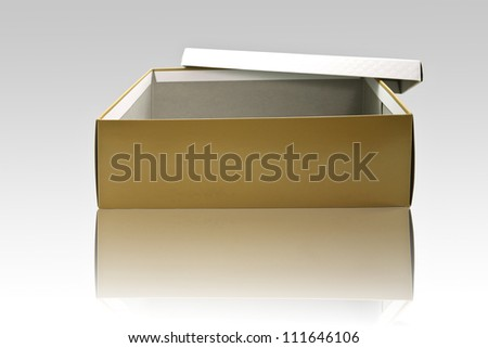 Open Empty box - stock photo