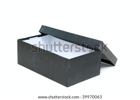 Open Empty box isolated on white - stock photo