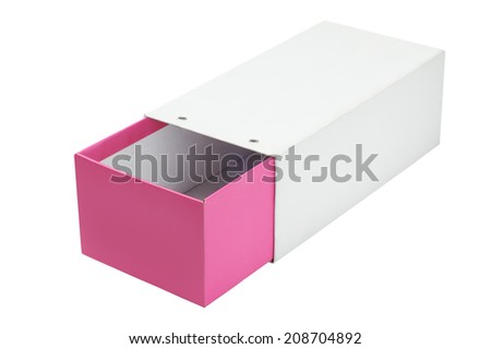 Open Empty Cardboard Shoe Box On white Background