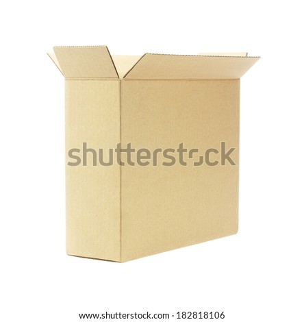 Open Empty Paper Box On White Background