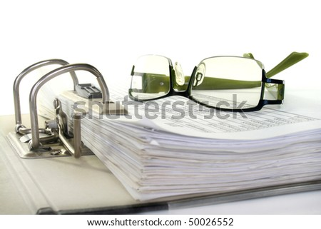 open folder with documents filed