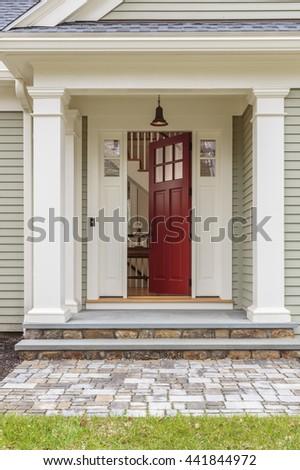 Open front door.