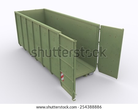 Open garbage container - stock photo