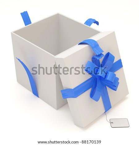 Open Gift Box isolated on white background - stock photo