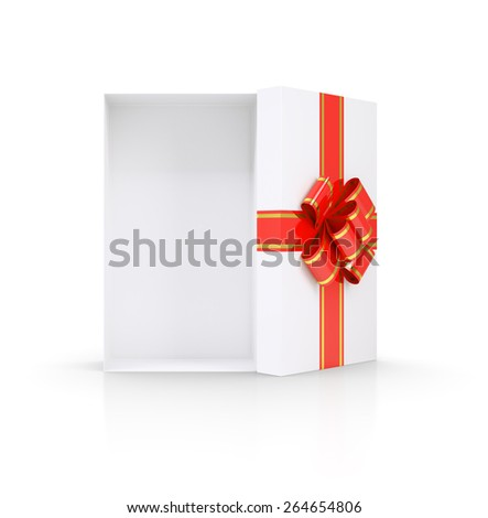 Open gift box. Isolated render on a white background