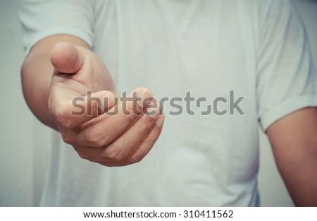 Open hand - stock photo