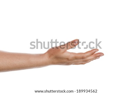 open hand isolated on white background