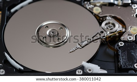 Open Hard Disk Drive (detailed close-up shot)