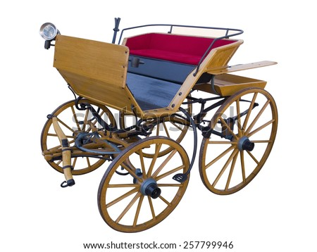 Open horse-drawn carriage high position - stock photo