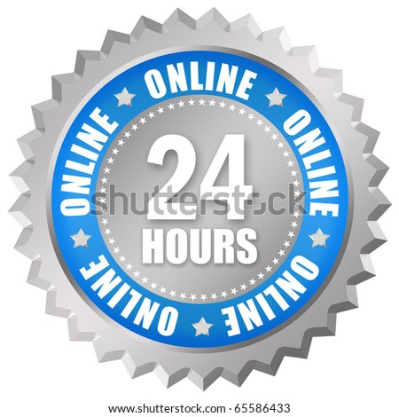 Open 24 hour sign - stock photo