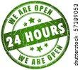 Open 24 hours - stock photo