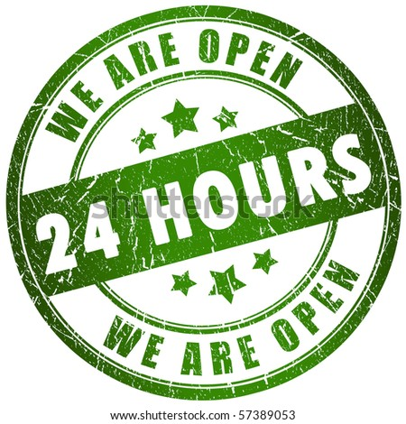 Open 24 hours - stock photo