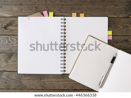 Open Journal Scrapbook Pen Page Markers Stock Photo Royalty Free