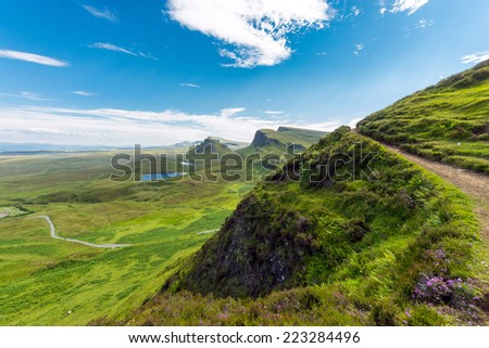Open landscape on the Isle of Skye in Scotland - stock photo