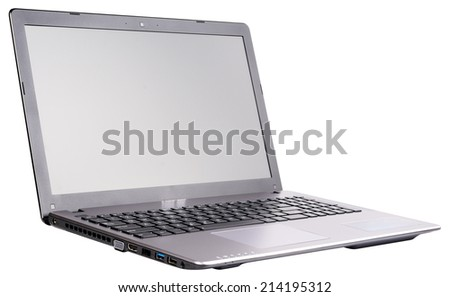 Open laptop (notebook) isolated on the white background