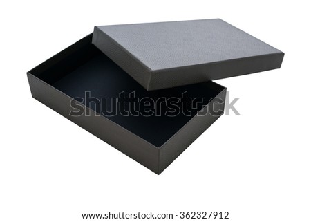 Open Leather Box isolated on a White background - stock photo