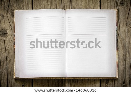 Open notebook - stock photo
