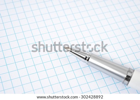 Open notebook and pen for writing . - stock photo