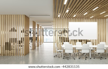 Open Office Interior Wooden Partitions New Stock
