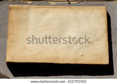open old book.nostalgic vintage background - stock photo