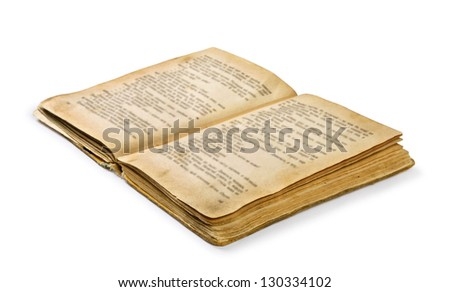 open old book on a white background - stock photo