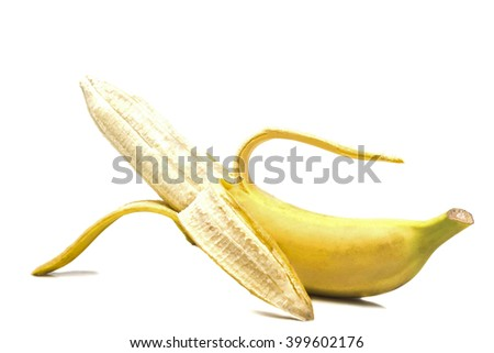 open one ripe banana flavored