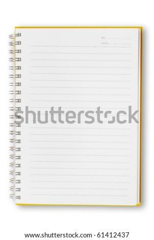 Open Orange notebook isolated  for text and background - stock photo