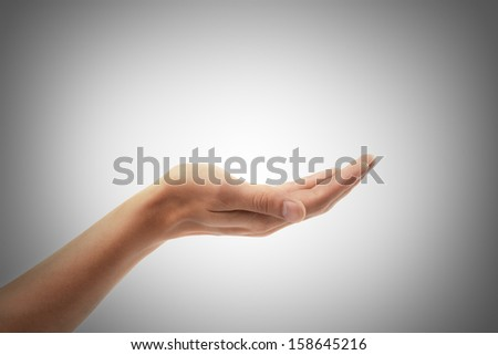 Open palm hand.  High resolution - stock photo
