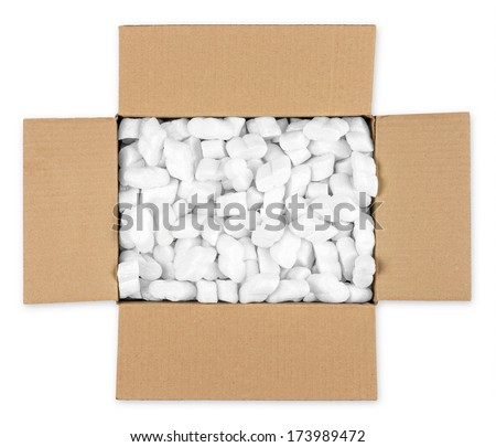 open parcel top view - stock photo
