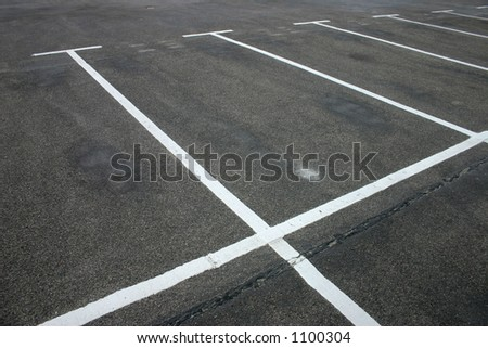 Open parking spaces