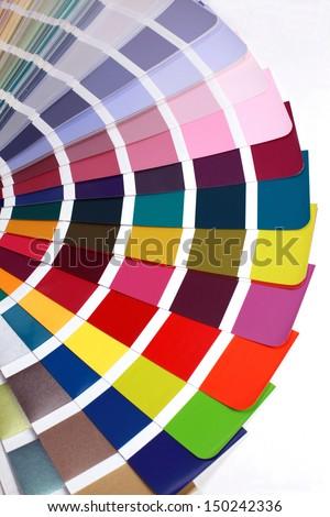 open RAL pantone sample colors catalogue - stock photo