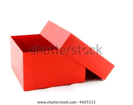 Open red box - stock photo