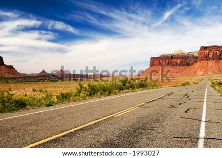 Open road, Canyonlands national park, Utah - stock photo
