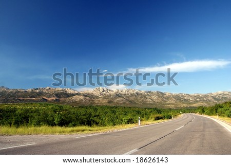 Open road for travel - stock photo