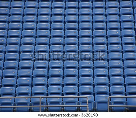 Open Seating at a Tennis Stadium before the US Open - stock photo