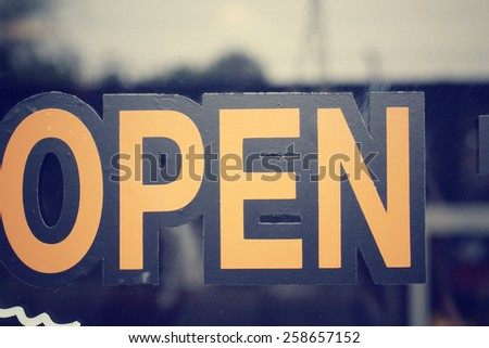 open signboard - stock photo