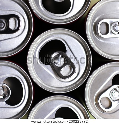 Open soft drink cans - stock photo