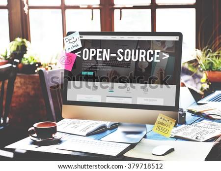 Open Source Developer Program Software User Concept - stock photo