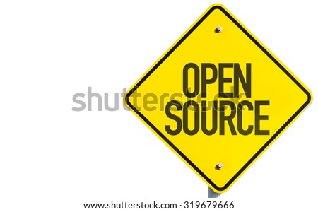 Open Source sign isolated on white background