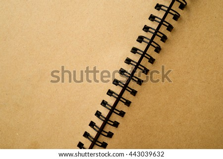 open spiral notebook - stock photo