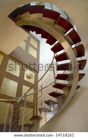 open stair case - stock photo