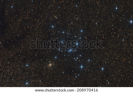Open Star Cluster M7 - stock photo