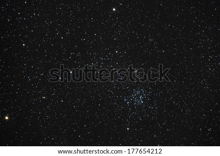 open stars cluster - stock photo