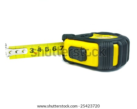 Open Tape Measure Isolated Over White