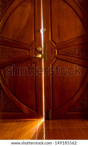 open the door light - stock photo