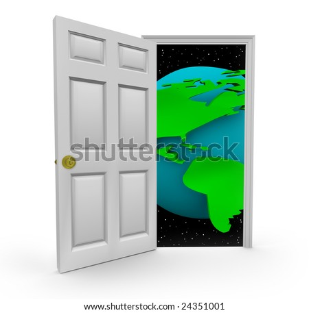 Open the door to a world of opportunities - stock photo