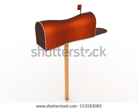 Open the mailbox on a white background #2 - stock photo